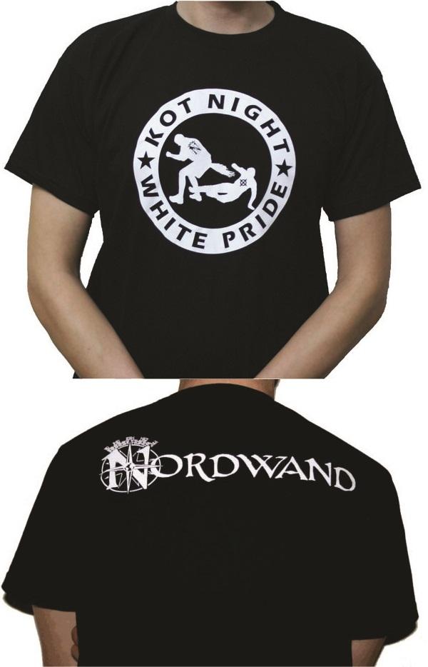 Kot Night White Pride T-Shirt Schwarz