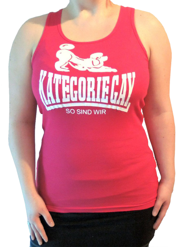 "Girlie-Unterhemd ""Kategorie Gay"" pink"