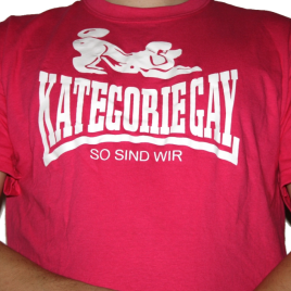 "T-Shirt ""Kategorie Gay"" Pink"