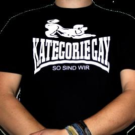 "T-Shirt ""Kategorie Gay"" Schwarz"