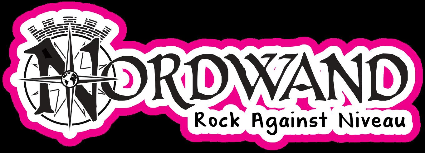 Nordwand Logo Schwarz Weiß Pink - Rock Against Niveau