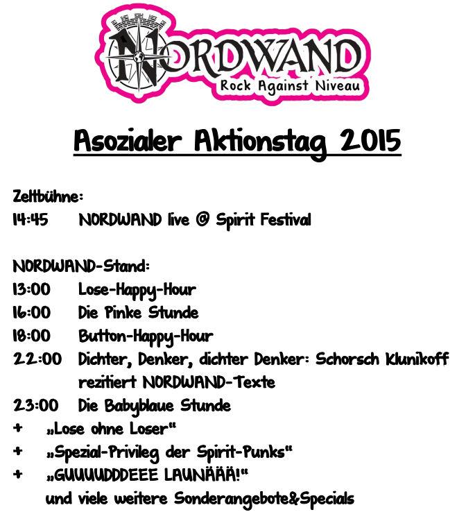 Asozialer Aktionstag auf dem Spirit Festival 2015