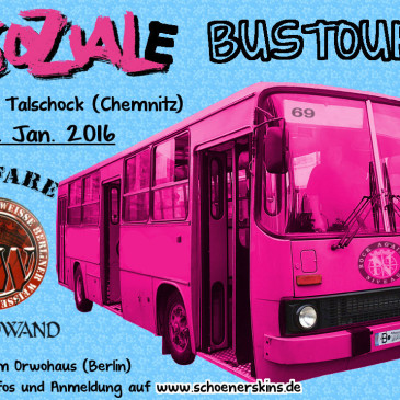 Asoziale Bustour ins AJZ Talschock | 29.01.2016