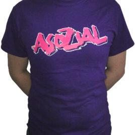T-Shirt Asozial Lila