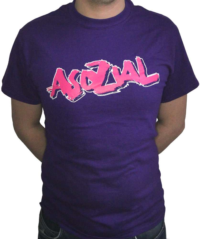 Lila Asozial T-Shirt