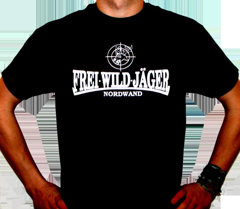 FreiWildJäger T-Shirt mit Hirsch Schwarz