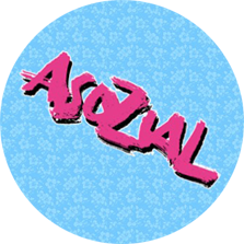 "Button ""Asozial"" babyblau"