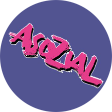 "Button ""Asozial"" lila"
