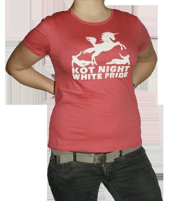 "Girlie-Shirt ""Kot Night White Pride Unicorn"" pink"