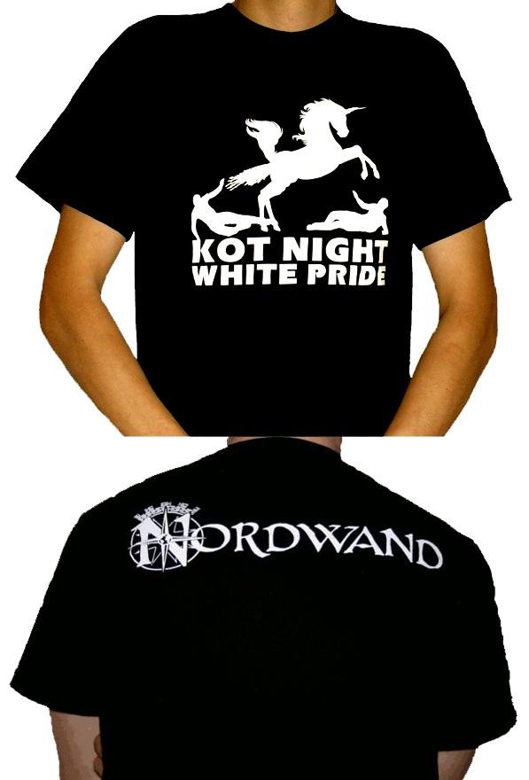 Kot Night White Pride Unicorn T-Shirt schwarz
