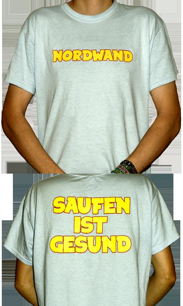 NORDWAND – Saufen Ist Gesund T-Shirt himmelblau